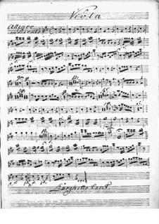 Концерт для клавесина с оркестром ре мажор: Партия альта by Никколо Йоммелли
