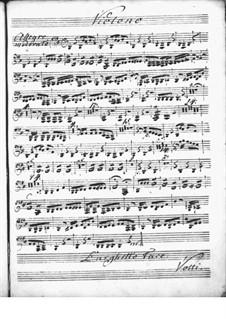 Концерт для клавесина с оркестром ре мажор: Партия скрипки by Никколо Йоммелли