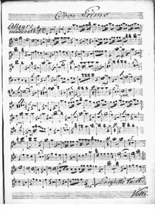 Концерт для клавесина с оркестром ре мажор: Партия I гобоев by Никколо Йоммелли