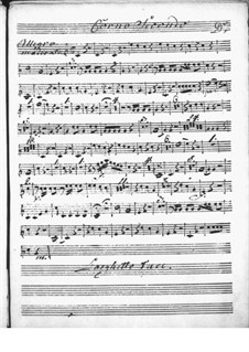 Концерт для клавесина с оркестром ре мажор: Партия II валторны by Никколо Йоммелли