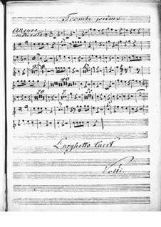 Концерт для клавесина с оркестром ре мажор: Партия I трубы by Никколо Йоммелли