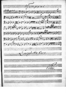 Концерт для клавесина с оркестром ре мажор: Партия литавр by Никколо Йоммелли