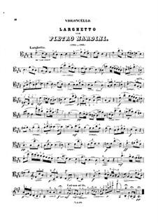 Соната для скрипки и бассо континуо ре мажор: Часть II. Переложение для виолончели и фортепиано – Партия виолончели by Пьетро Нардини