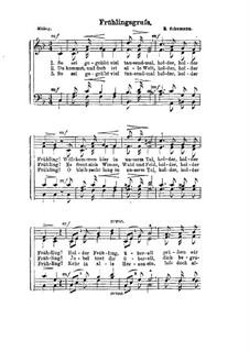 Альбом песен для юношества, Op.79: No.4 Frühlingsgruss, for voices by Роберт Шуман