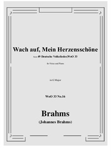 No.15-21: No.16 Wach auf, Mein Herzensschone G Major) by Иоганнес Брамс