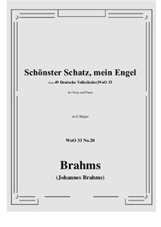 No.15-21: No.20 Schonster Schatz, mein Engel (G Major) by Иоганнес Брамс