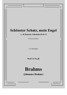 No.15-21: No.20 Schonster Schatz, mein Engel (A flat Major) by Иоганнес Брамс