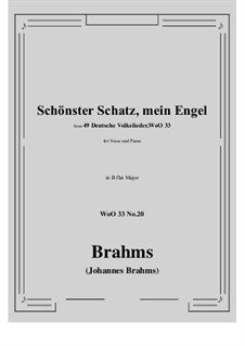 No.15-21: No.20 Schonster Schatz, mein Engel (B flat Major) by Иоганнес Брамс