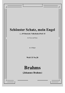 No.15-21: No.20 Schonster Schatz, mein Engel (A Major) by Иоганнес Брамс