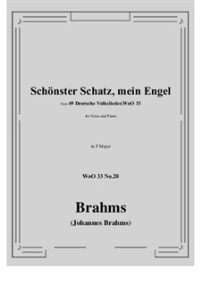 No.15-21: No.20 Schonster Schatz, mein Engel (F Major) by Иоганнес Брамс