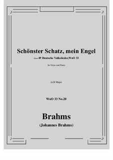 No.15-21: No.20 Schonster Schatz, mein Engel (B Major) by Иоганнес Брамс