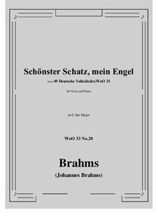 No.15-21: No.20 Schonster Schatz, mein Engel (G flat Major) by Иоганнес Брамс