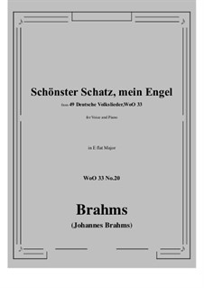 No.15-21: No.20 Schonster Schatz, mein Engel (E flat Major) by Иоганнес Брамс