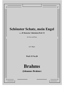 No.15-21: No.20 Schonster Schatz, mein Engel (E Major) by Иоганнес Брамс
