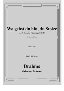 No.22-28: No.22 Wo gehst du hin, du Stolze (A flat Major) by Иоганнес Брамс