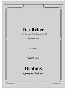 No.22-28: No.23 Der Reiter (g minor) by Иоганнес Брамс