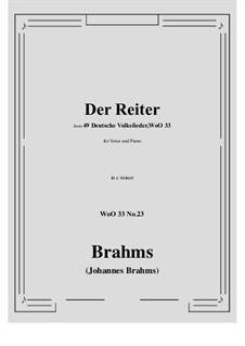 No.22-28: No.23 Der Reiter (c minor) by Иоганнес Брамс