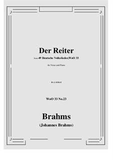 No.22-28: No.23 Der Reiter (a minor) by Иоганнес Брамс
