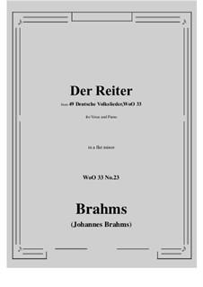 No.22-28: No.23 Der Reiter (a flat minor) by Иоганнес Брамс