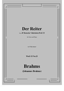 No.22-28: No.23 Der Reiter (b flat minor) by Иоганнес Брамс