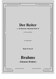 No.22-28: No.23 Der Reiter (e flat minor) by Иоганнес Брамс