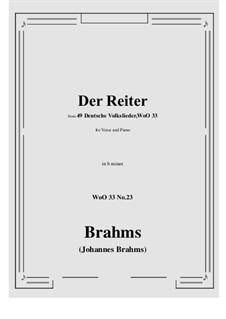 No.22-28: No.23 Der Reiter (b minor) by Иоганнес Брамс