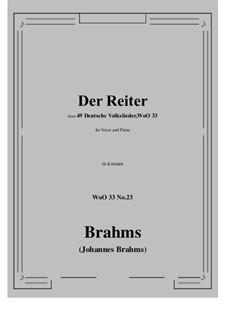No.22-28: No.23 Der Reiter (d minor) by Иоганнес Брамс