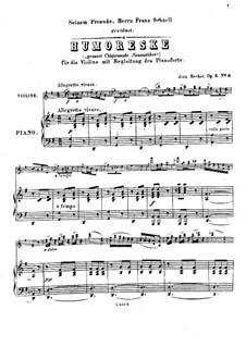 Юмореска для скрипки и фортепиано, Op.3 No.2: Партитура by Jean Becker