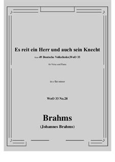 No.22-28: No.28 Es reit ein Herr und auch sein Knecht (e flat minor) by Иоганнес Брамс