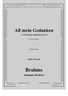 No.29-35: No.30 All mein Gedanken (B flat Major) by Иоганнес Брамс