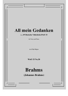 No.29-35: No.30 All mein Gedanken (A flat Major) by Иоганнес Брамс