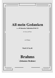 No.29-35: No.30 All mein Gedanken (G Major) by Иоганнес Брамс