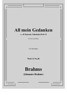 No.29-35: No.30 All mein Gedanken (E flat Major) by Иоганнес Брамс