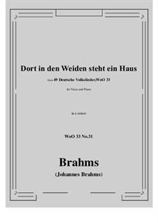 No.29-35: No.31 Dort in den Weiden steht ein Haus (a minor) by Иоганнес Брамс