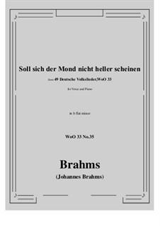 No.29-35: No.35 Soll sich der Mond nicht heller scheine (b flat minor) by Иоганнес Брамс