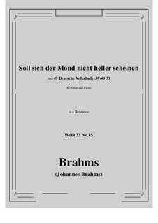 No.29-35: No.35 Soll sich der Mond nicht heller scheine (e flat minor) by Иоганнес Брамс