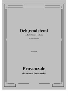 La Stellidaura vendicata. Deh, rendetemi: E minor by Francesco Provenzale