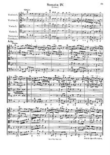 Соната для струнных и бассо континуо No.4: Часть V by Георг Муффат