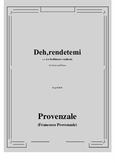 La Stellidaura vendicata. Deh, rendetemi: G minor by Francesco Provenzale