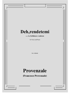 La Stellidaura vendicata. Deh, rendetemi: C minor by Francesco Provenzale