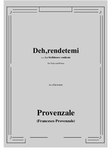 La Stellidaura vendicata. Deh, rendetemi: A flat minor by Francesco Provenzale