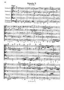 Соната для струнных и бассо континуо No.5: Части III-IV by Георг Муффат