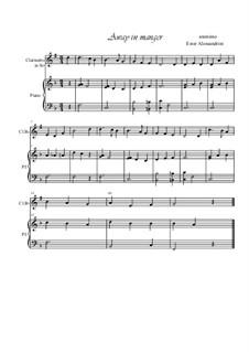 Away in a Manger: Для кларнета и фортепиано by folklore