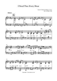 I Need Thee Every Hour: Для фортепиано by Роберт Лоури
