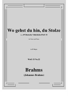 No.22-28: No.22 Wo gehst du hin, du Stolze (B Major) by Иоганнес Брамс