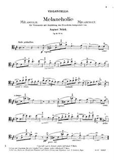 Пять пьес, Op.15: No.4 Меланхолия – Партия by Август Нёльк