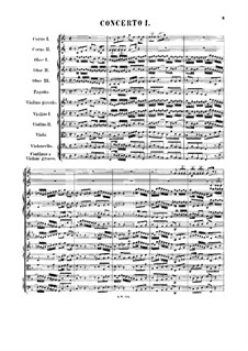 Бранденбургский концерт No.1 фа мажор, BWV 1046: Партитура by Иоганн Себастьян Бах