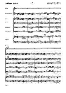 Бранденбургский концерт No.5 ре мажор, BWV 1050: Партитура by Иоганн Себастьян Бах