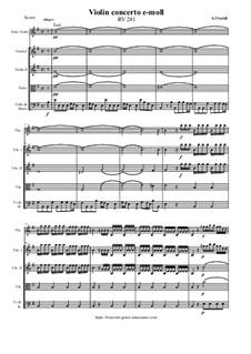 Violin concerto e-moll – Score & Parts, RV 281: Violin concerto e-moll – Score & Parts by Антонио Вивальди