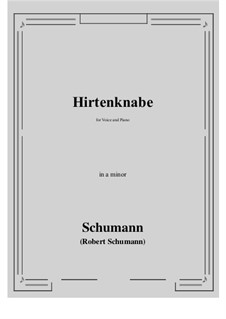 Hirtenknabe: A minor by Роберт Шуман